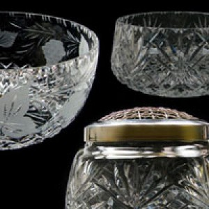 Crystal Bowls, Crystal Rose Bowls and Crystal Plinth Bowls