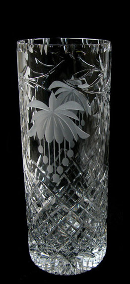 10 inch Cylinder Vase Fuchsia