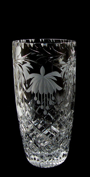 9 inch Barrel Vase Fuchsia