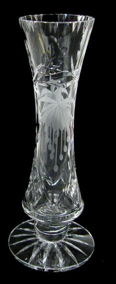 9 inch Footed Specimen Vase Fuchsia