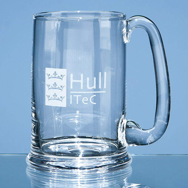 Large Dartington Crystal Real Ale Tankard
