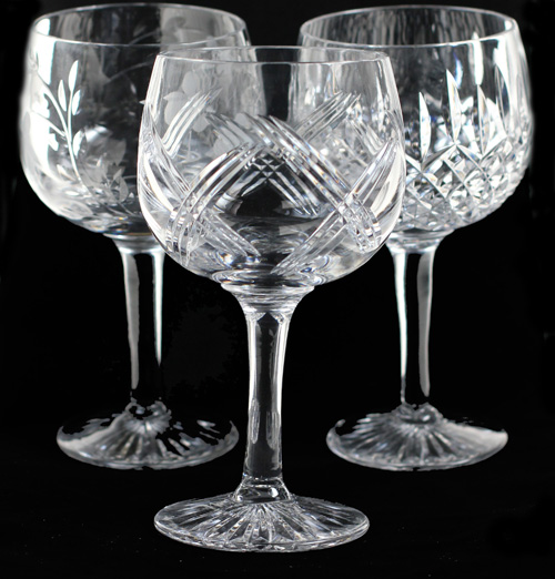 Gin Glasses. Gin Goblets