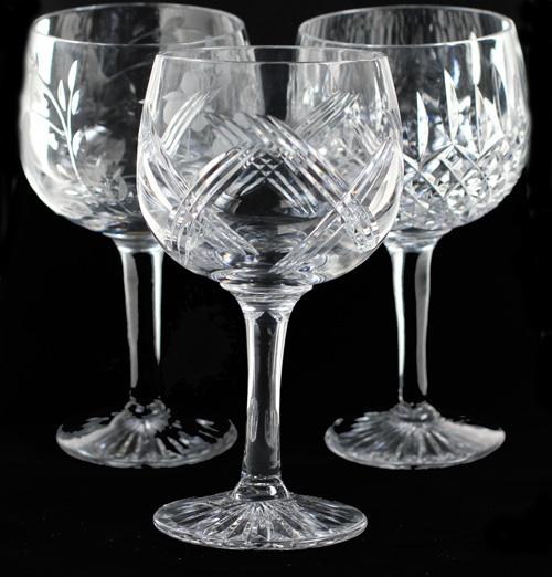 Gin Glasses. Gin Goblets