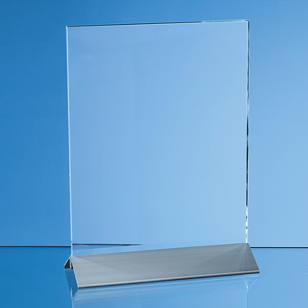20cm x 15cm x 6mm Clear Rectangle on an Aluminium Base