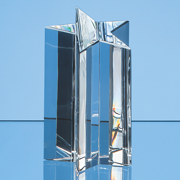 18cm Optical Crystal 5 Pointed Star Award