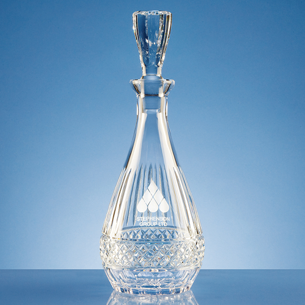 0.75ltr Lead Crystal Oval Wine Decanter