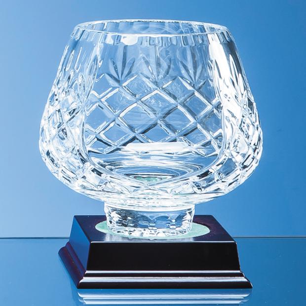 13cm Lead Crystal Panelled Tulip Bowl