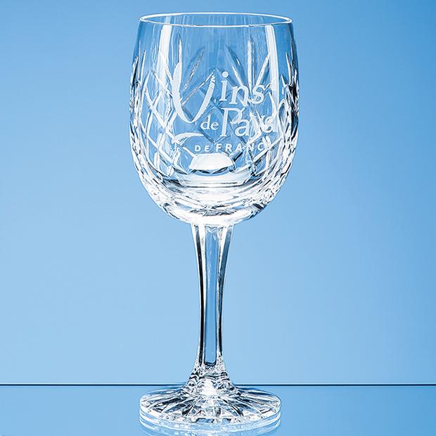 285ml Glencoe Lead Crystal Panel Goblet