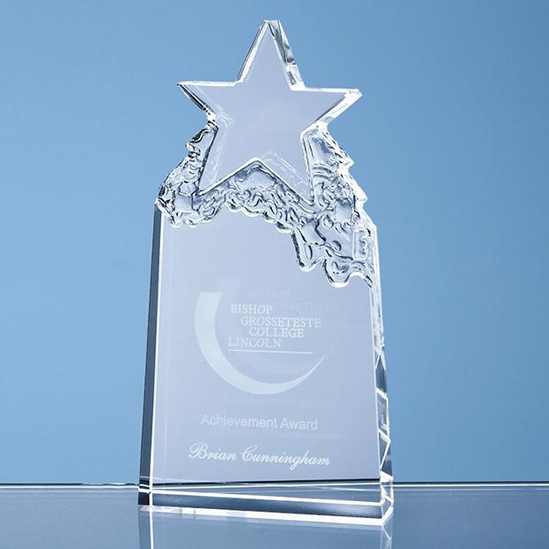 18cm Optical Crystal Star Mountain Award