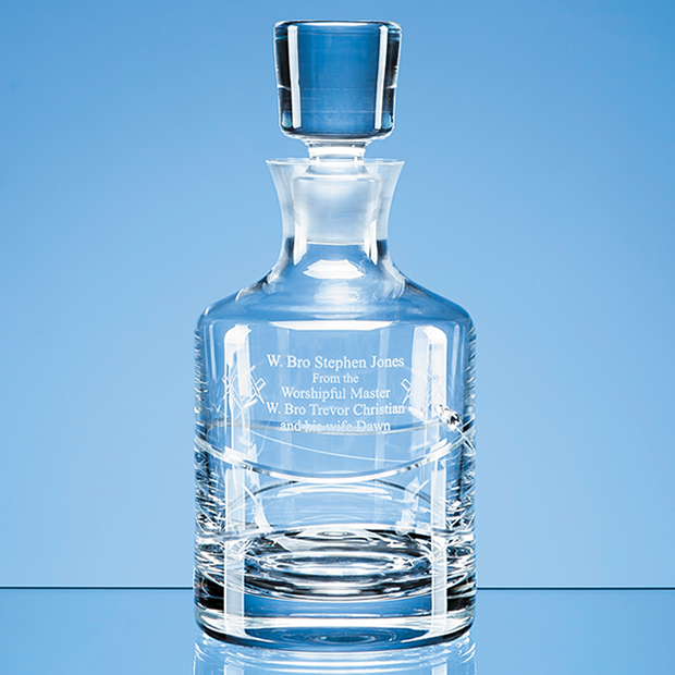 0.75ltr Diamante Spiral Round Decanter