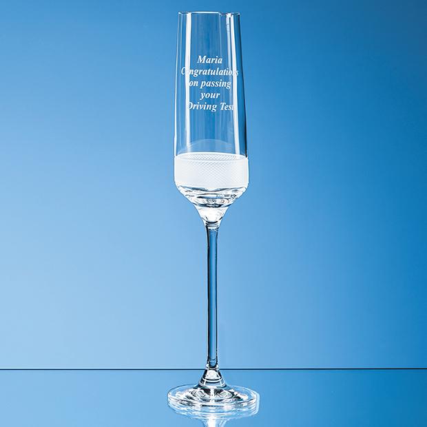 190ml Diamond Cut Crystalite Champagne Flute