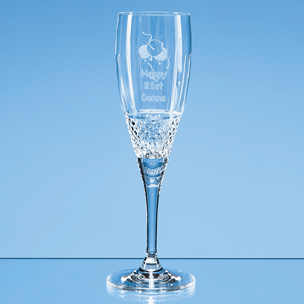 230ml Gino Crystalite Panel Champagne Flute