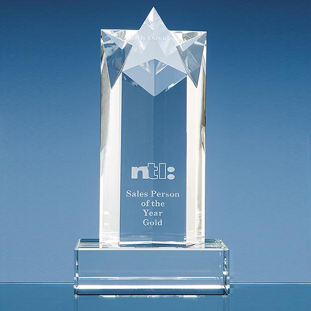 20cm Optical Crystal Star Column Award