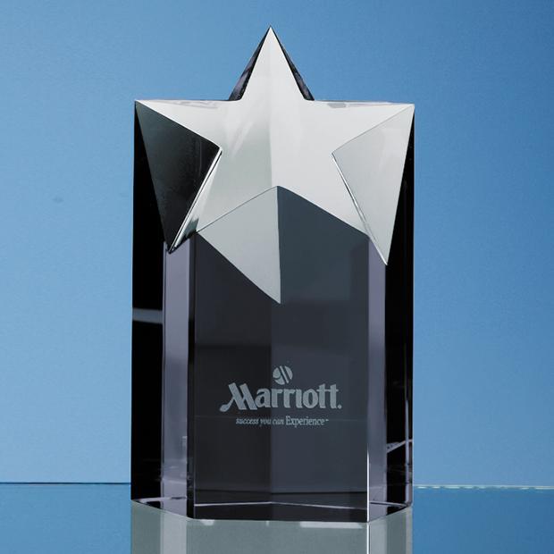 15cm Onyx Black Optic Star Column Award