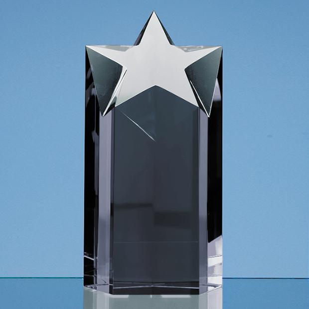 18cm Onyx Black Optic Star Column Award