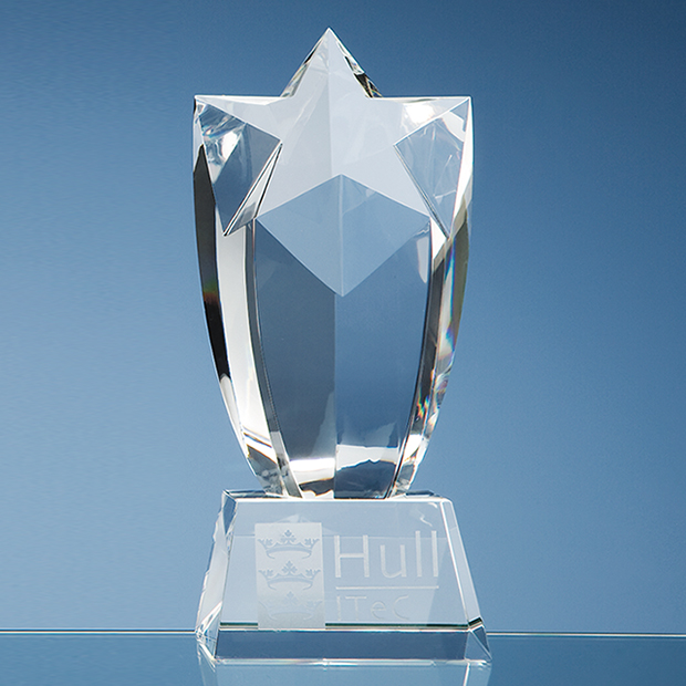 20cm Optical Crystal Starburst Award