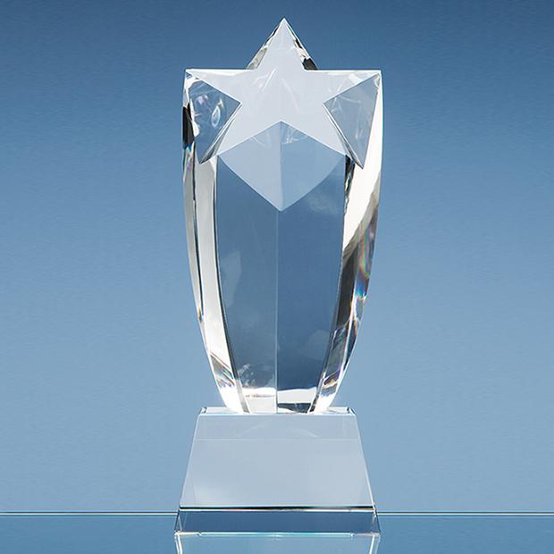 23cm Optical Crystal Starburst Award