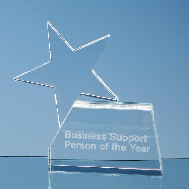 14cm Optical Crystal Single Rising Star Award