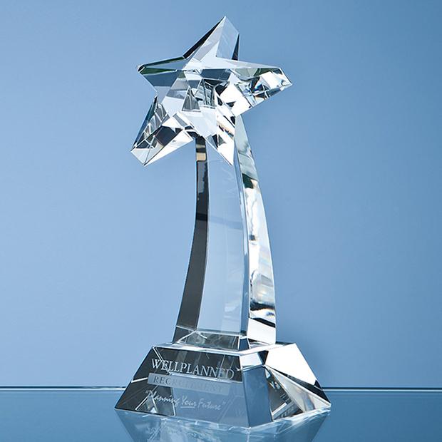 16cm Optical Crystal Shooting Star Award