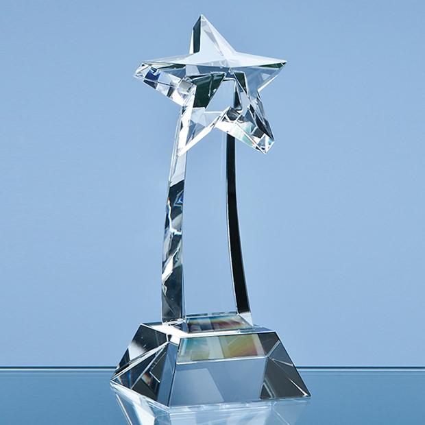 25cm Optical Crystal Shooting Star Award
