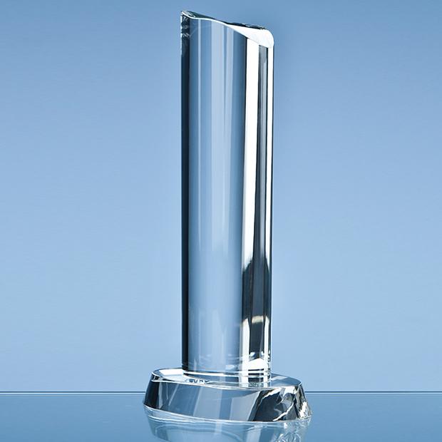 25 5cm Optical Crystal Oval Column Award