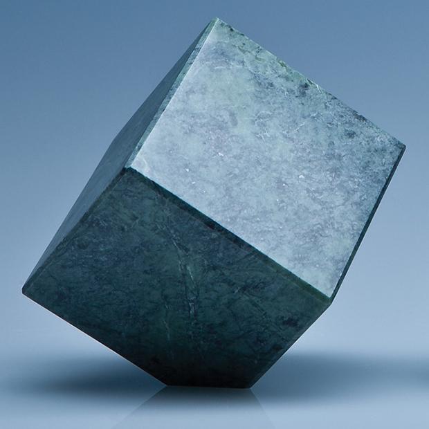 7cm Green Marble Bevel Edged Cube*