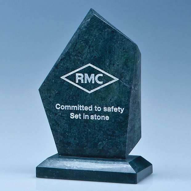 15cm Green Marble Facetted Ice Peak Award*
