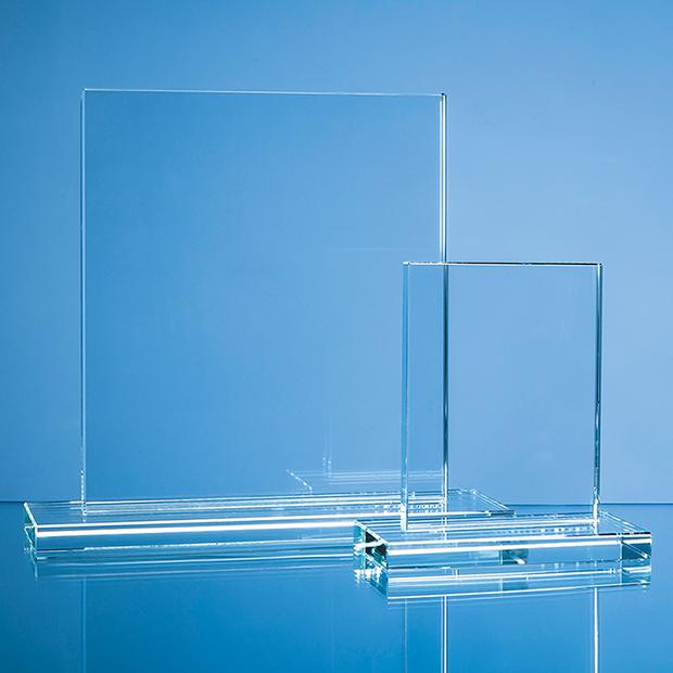 15cm x 12.5cm x 12mm Clear Glass Rectangle Award
