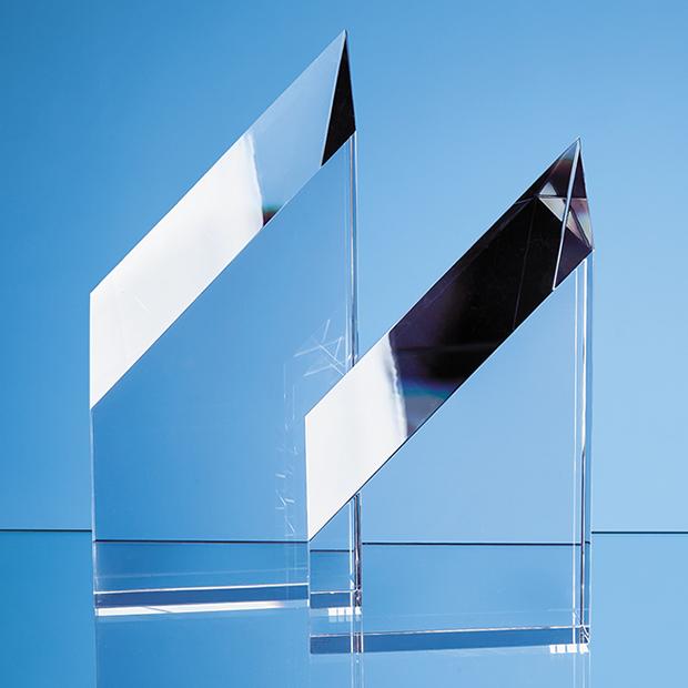 28cm Optical Crystal Stafford Peak Award