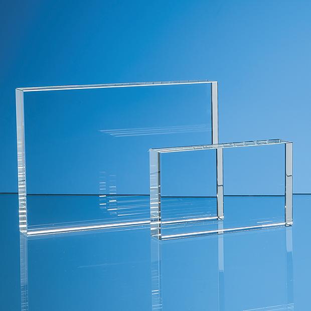 12.5cm x 17.5cm Optical Crystal Rectangle, H or V
