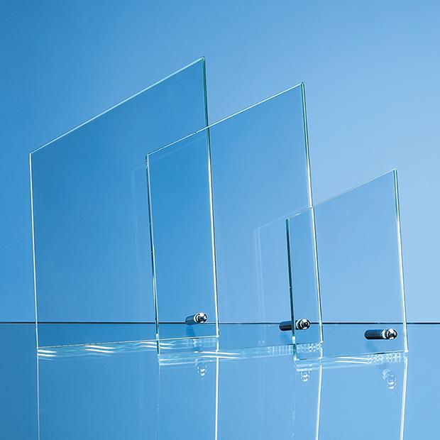 14.5cm x 8.5cm x 1cm Jade Glass Peak with Chrome Pin, H or V