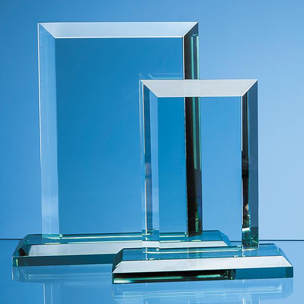 Cm X Mm Jade Glass Mitred Rectangle Award