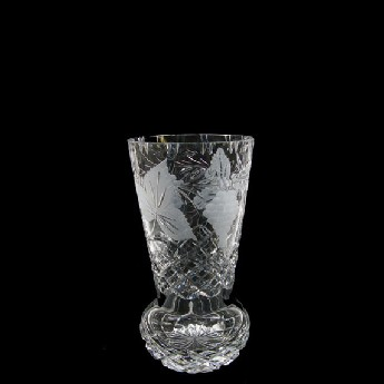 7 inch Sweet Pea Crystal Vase Grapevine