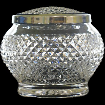 Ice Diamond Round Sided 6 Inch Rose Bowl