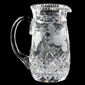 4 Pint Slim Pitcher Jug Grapevine