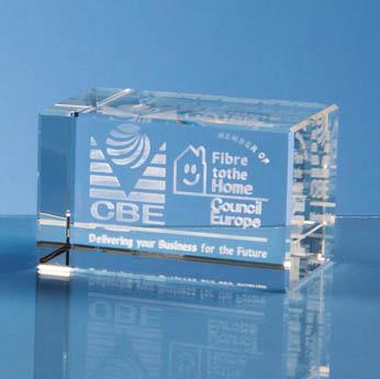 3D Laser Engraved Optical Crystal